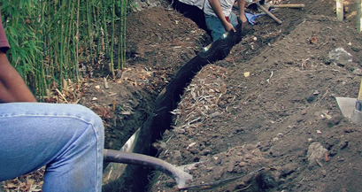 Root Barrier Installation
